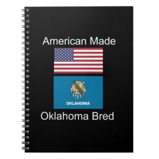 """American Born..Oklahoma Bred"" Flag Design Notebook"