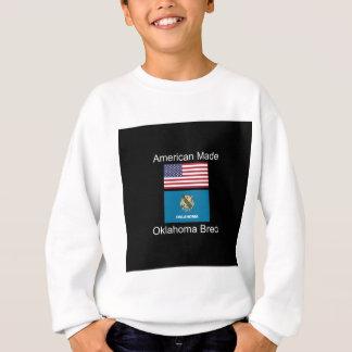 """American Born..Oklahoma Bred"" Flag Design Sweatshirt"