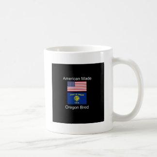"""American Born..Oregon Bred"" Flags and Patriotism Coffee Mug"