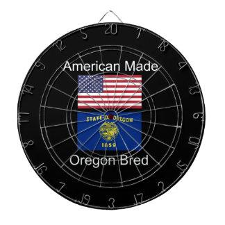 """American Born..Oregon Bred"" Flags and Patriotism Dartboard"