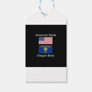 """""""American Born..Oregon Bred"""" Flags and Patriotism Gift Tags"""