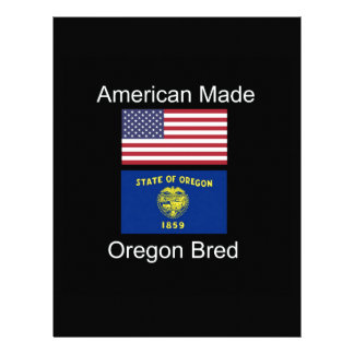 """American Born..Oregon Bred"" Flags and Patriotism Letterhead"