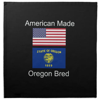 """American Born..Oregon Bred"" Flags and Patriotism Napkin"