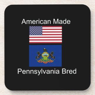 """""""American Born..Pennsylvania Bred"""" Flag Design Coaster"""