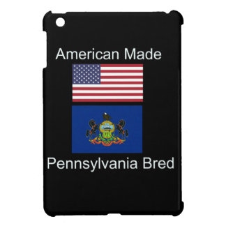"""American Born..Pennsylvania Bred"" Flag Design iPad Mini Covers"