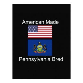 """American Born..Pennsylvania Bred"" Flag Design Letterhead"
