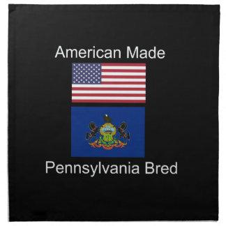 """American Born..Pennsylvania Bred"" Flag Design Napkin"