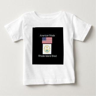 """American Born..Rhode Island Bred"" Flag Design Baby T-Shirt"
