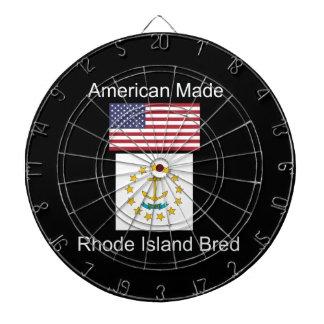 """American Born..Rhode Island Bred"" Flag Design Dartboard"