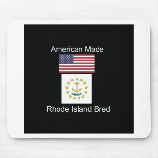 """American Born..Rhode Island Bred"" Flag Design Mouse Pad"