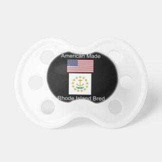 """American Born..Rhode Island Bred"" Flag Design Pacifiers"