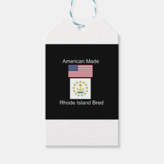 """American Born..Rhode Island Bred"" Flag Design Pack Of Gift Tags"