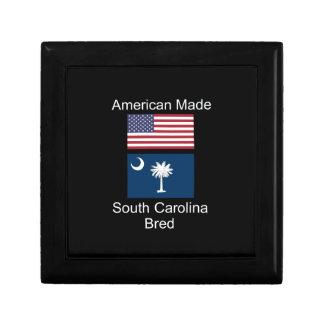 """American Born..South Carolina Bred"" Flag Design Jewelry Boxes"