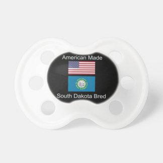"""American Born..South Dakota Bred"" Flag Design Baby Pacifiers"