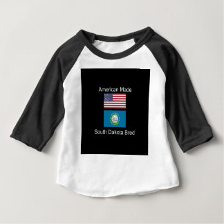 """American Born..South Dakota Bred"" Flag Design Baby T-Shirt"