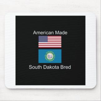"""American Born..South Dakota Bred"" Flag Design Mouse Pad"