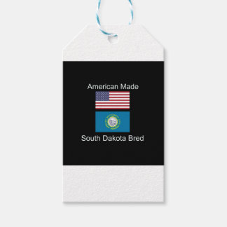 """American Born..South Dakota Bred"" Flag Design Pack Of Gift Tags"