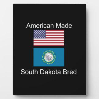 """American Born..South Dakota Bred"" Flag Design Plaque"