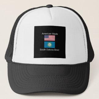 """""""American Born..South Dakota Bred"""" Flag Design Trucker Hat"""