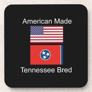 """American Born..Tennessee Bred"" Flag Design Coasters"