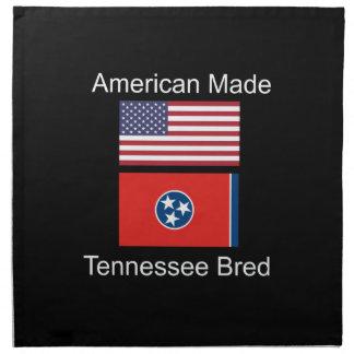 """""""American Born..Tennessee Bred"""" Flag Design Napkin"""