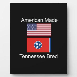 """American Born..Tennessee Bred"" Flag Design Plaque"