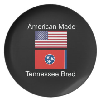 """American Born..Tennessee Bred"" Flag Design Plate"