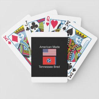 """American Born..Tennessee Bred"" Flag Design Poker Deck"