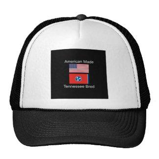 """American Born..Tennessee Bred"" Flag Design Trucker Hat"