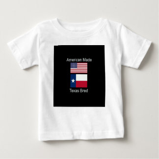 """""""American Born..Texas Bred"""" Flags and Patriotism Baby T-Shirt"""