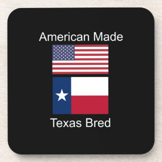"""""""American Born..Texas Bred"""" Flags and Patriotism Coaster"""