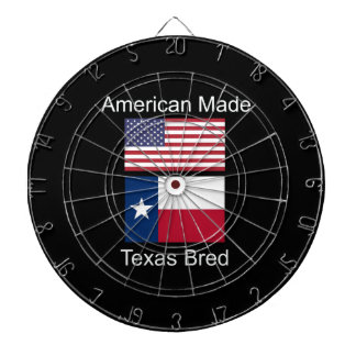 """American Born..Texas Bred"" Flags and Patriotism Dartboard"