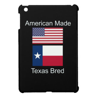 """American Born..Texas Bred"" Flags and Patriotism iPad Mini Covers"