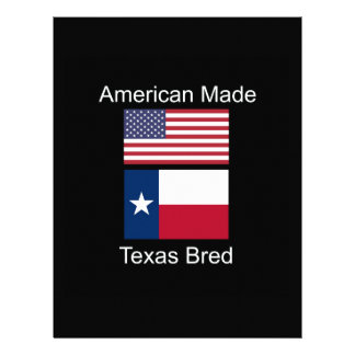 """""""American Born..Texas Bred"""" Flags and Patriotism Letterhead"""
