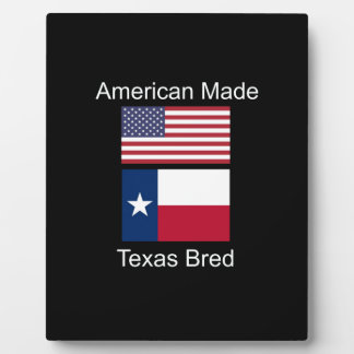 """American Born..Texas Bred"" Flags and Patriotism Plaque"