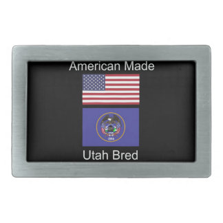 """American Born..Utah Bred"" Flags and Patriotism Belt Buckle"