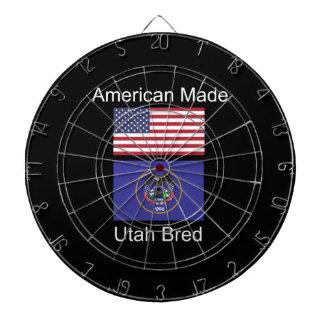 """""""American Born..Utah Bred"""" Flags and Patriotism Dartboard"""