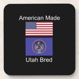 """American Born..Utah Bred"" Flags and Patriotism Drink Coaster"
