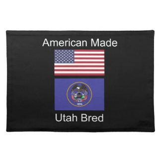 """""""American Born..Utah Bred"""" Flags and Patriotism Placemat"""