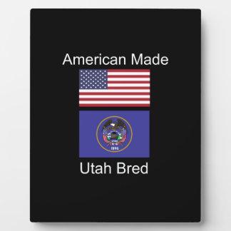 """""""American Born..Utah Bred"""" Flags and Patriotism Plaque"""