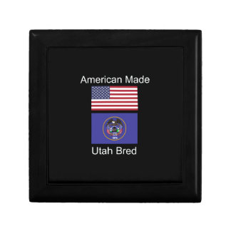 """""""American Born..Utah Bred"""" Flags and Patriotism Trinket Box"""