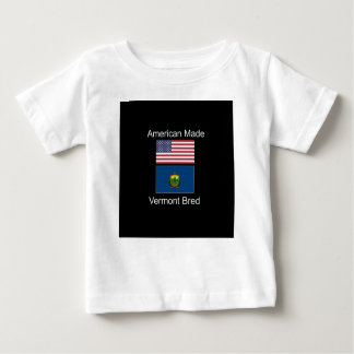 """""""American Born..Vermont Bred"""" Flags and Patriotism Baby T-Shirt"""