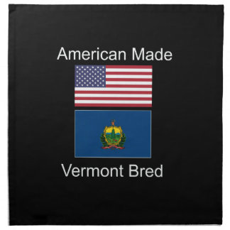 """American Born..Vermont Bred"" Flags and Patriotism Napkin"