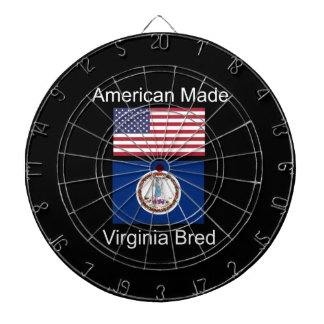 """American Born..Virginia Bred"" Flag Design Dartboard"