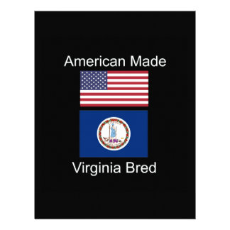 """American Born..Virginia Bred"" Flag Design Letterhead"