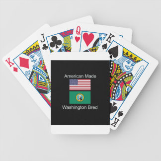 """American Born..Washington Bred"" Flag Design Bicycle Playing Cards"