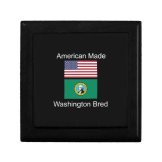 """American Born..Washington Bred"" Flag Design Gift Box"