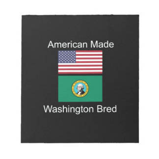 """American Born..Washington Bred"" Flag Design Notepad"