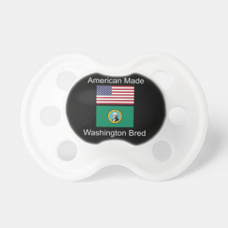 """American Born..Washington Bred"" Flag Design Pacifier"