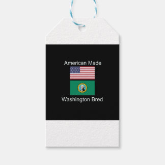 """""""American Born..Washington Bred"""" Flag Design Pack Of Gift Tags"""